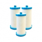 3x Aqua Blue H2O Westinghouse, Electrolux 1438545 Fridge Water Filter - 218904501 WF1CB−WF