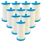 10x Aqua Blue H2O Westinghouse/Electrolux 1438545 Fridge Water Filter | 218904501 WF1CB−WF