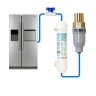 Compatible Water Filter + FMBP 600 Water Pressure Reducing Valve + Water Line Tube Hose Kit 5m, 1/4 inch SET
