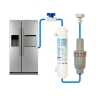 Compatible Water Filter + FMBP 350 Water Pressure Reducing Valve + Water Line Tube Hose Kit 5m, 1/4 inch SET