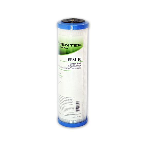"Pentek EPM-10 Carbon Block Filter Cartridge 9-3/4"" x 2-7/8"" 10 Mic"