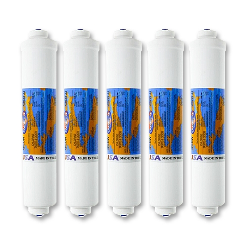 5x Omnipure K2533JJ Inline Water Filter with Quick-Connect