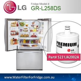 LG Fridge Model GR-L258DS Replacement Filter Genuine  Premium,5231JA2002A