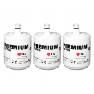 3x LG 5231JA2002A, LT500P Original Genuine Fridge Water Filter Premium, Cuno 3M