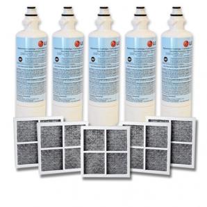 5x LG LT700P ADQ36006101 with 5x LG LT120F ADQ73214404 Air filter
