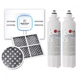 2 Pack of  LG  ADQ73613401  with  Fridge Air Filter LT120F SET