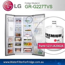LG Fridge Model GR-G227TVS Replacement Filter Genuine Premium, 5231JA2002A