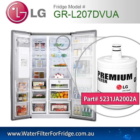 LG Fridge Model GR-L207DVUA Replacement Filter Genuine  Premium,5231JA2002A