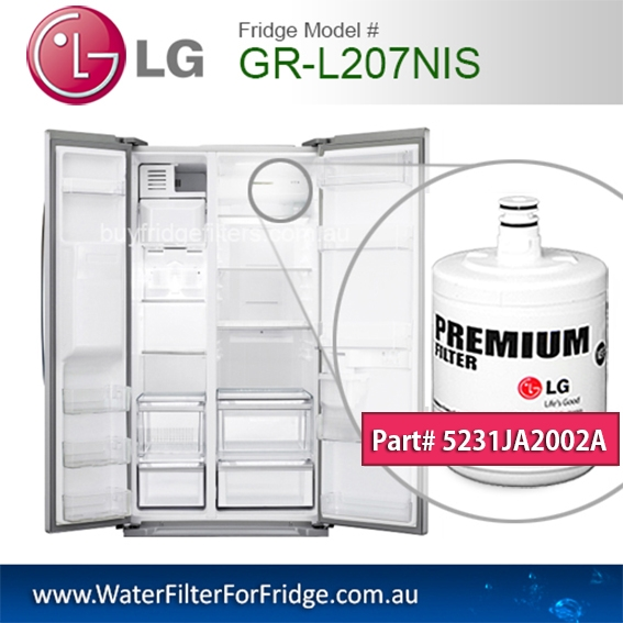 LG Fridge Model GR-L207NIS Replacement Filter Genuine  Premium,5231JA2002A, Cuno 3M