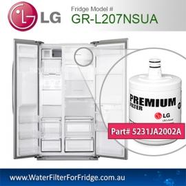 LG Fridge Model GR-L207NSUA Replacement Filter Genuine  Premium,5231JA2002A