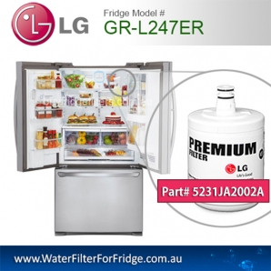 LG Fridge Model GR-L247ER Replacement Filter Genuine  Premium,5231JA2002A