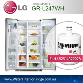 LG Fridge Model GR-L247WH Replacement Filter Genuine  Premium,5231JA2002A, Cuno 3M