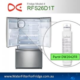 RFS26D1T Water filter  DW2042FR-09 Replacement Fridge Filter Cartridge
