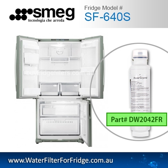 Genuine DW2042FR-09 Replacement Fridge Filter Cartridge suits for SMEG SF-640S