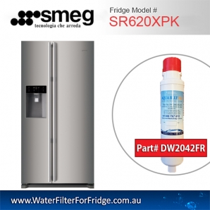 Smeg Fridge filters DW2042FR-09 for  Fridge model  SR620XPK