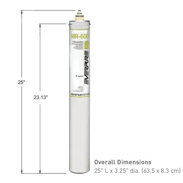 Everpure ev9627 13 mr 600 reverse osmosis replacement membrane for Everpure reverse osmosis