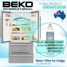 4874960100 Replacement filter suits for Beko Fridge Model GNE60520DX