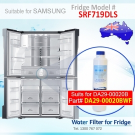 SRF719DLS Samsung Fridge DA29-00020A/B Replacement Water Filters by Aqua Blue H2O