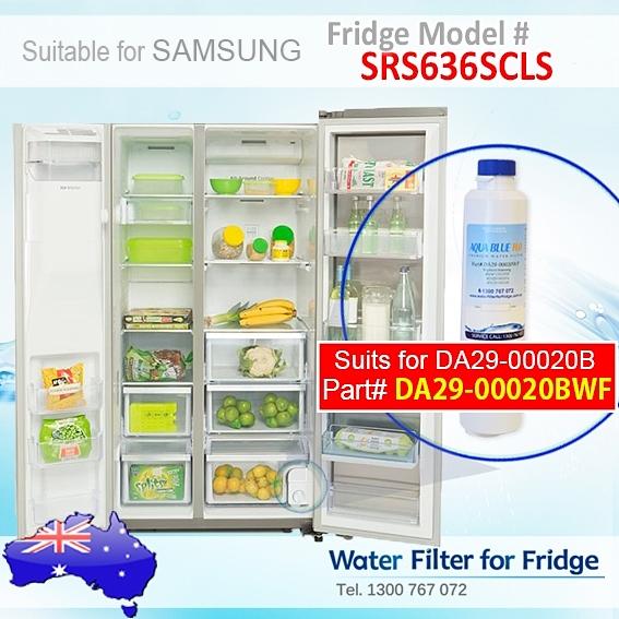 SRS636SCLS Samsung Fridge DA29-00020A/B Replacement Water Filters by Aqua Blue H2O