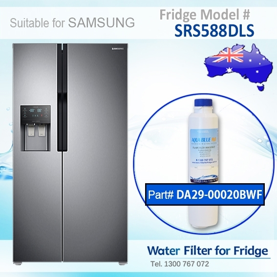 SRS588DLS Samsung Fridge DA29-00020A/B Replacement Water Filters by Aqua Blue H2O