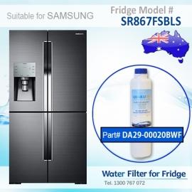 SR867FSBLS Samsung Fridge DA29-00020A/B Replacement Water Filters by Aqua Blue H2O