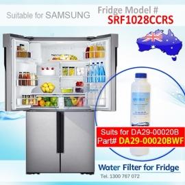 SRF1028CCRS Samsung Fridge DA29-00020A/B Replacement Water Filters by Aqua Blue H2O