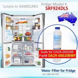 SRF924DLS Samsung Fridge DA29-00020A/B Replacement Water Filters by Aqua Blue H2O
