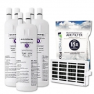 2x Whirlpool Genuine W10295370 Fridge Water Filter + Air Filter W10311524 SET