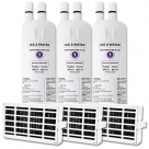 2x Whirlpool Genuine W10295370 Fridge Water Filter + 2x Air Filter W10311524 SET