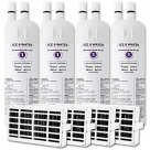 4x Whirlpool Genuine Water Filter W10295370 + 4x Air Filter W10311524