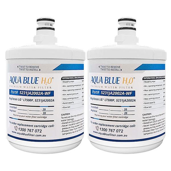 2x Aqua Blue H2O Generic Replacement for LG 5231JA2002A, LT500P