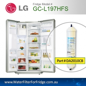 2x LG External Fridge Filter for GC-L197HFS Inline Premium Filter