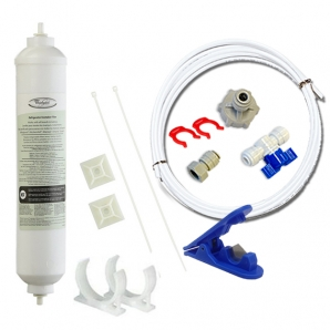 Whirlpool Genuine Fridge Filter 4378411 or  4378411RB Hose(15M) Kit