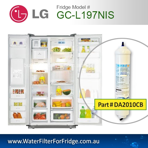 2x LG External Fridge Filter for GC-L197NIS Inline Premium Filter