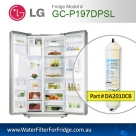 2PACK OF LG EXTERNAL FRIDGE FILTER FOR GC-L197NIS IN LINE PREMIUM FILTER