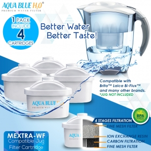 BRITA MAXTRA COMPATIBLE - Water filter for water filter jug ( Pack of 4)