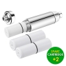 AQUA BLUE H20 High Performance Shower Filter with Replaceable 2 Stage KDF/CAG SHOWER FILTER SF550WF