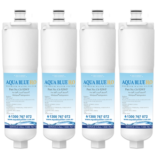 4x 640565 Bosch 3M CS-52  by Aqua  Blue H20