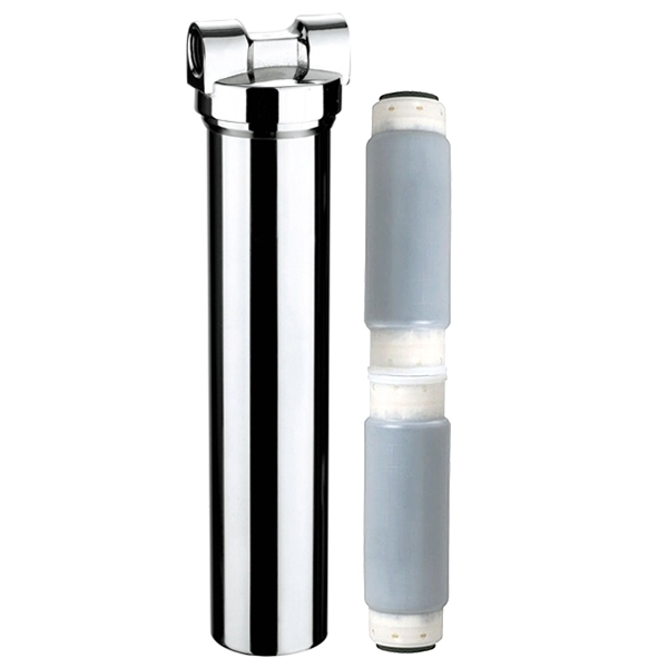 "3M FS117 2.5"" x 20"" Chrome body Carbon Undersink Drinking Water Filter System"