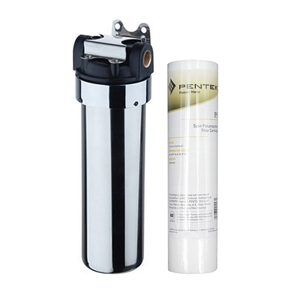 Everpure sediment filter system with chrome canister for Everpure filter system