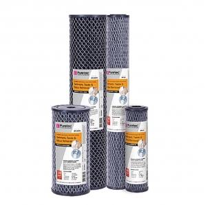 Puretec DP10MP2 Dual Carbon Water Filter Cartridge 4.5 x 20 inch 10 Micron