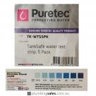 Puretec Tanksafe Water Test Strips 5 Pack TK-WTS5Pk