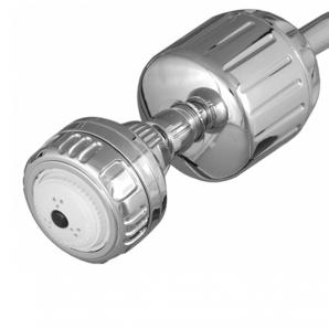 Sprite Brass Chrome Shower Filter & Chrome Shower Rose