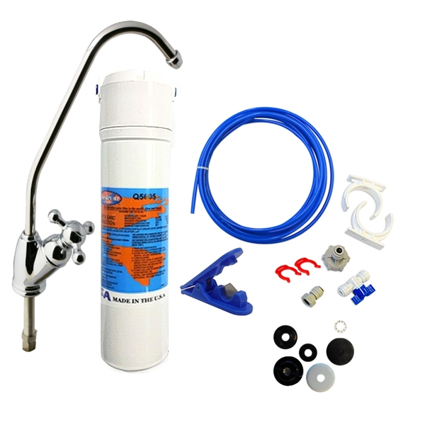 Under Sink Water filter System  with dedicated faucet