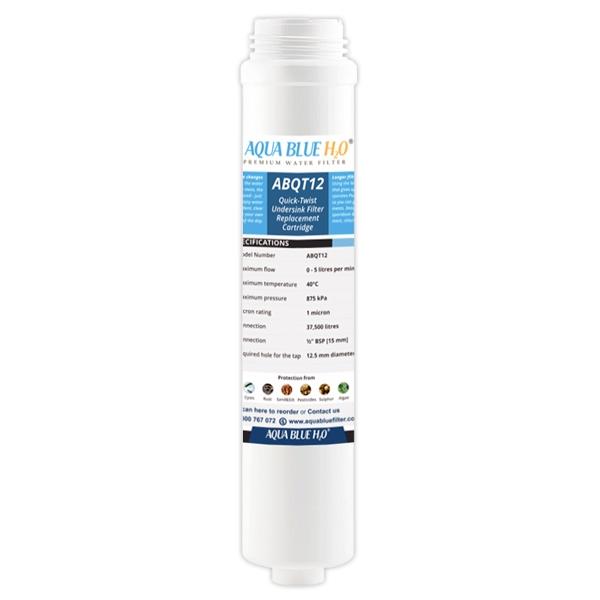 AQUA BLUE H2O ABQT12 Quick Change Water Filter
