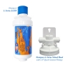 """Omnipure L Series L5320 Water Filter RV 6"""" with L-Series Valved Head with 1/4"""" Quick Connect Fittings"""