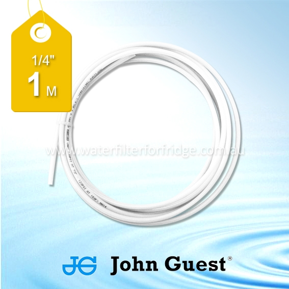 "John Guest 1/4"" Hose Tubing High Pressure White 1 Metre"
