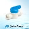 John Guest Shut-Off Valve-Polypro Straight - 1/4 Tube x 1/4 Tube