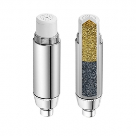 Aqua Blue H2O High Performance Shower Filter + Replaceable 2S tage KDF/GAC Cartridge