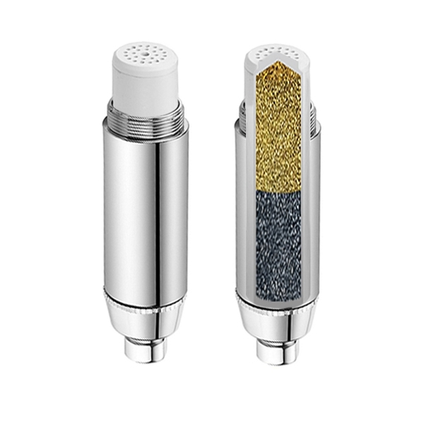 Aqua Blue H2O High Performance Shower Filter + Replaceable 2S tage KDF/GAC Cartridge